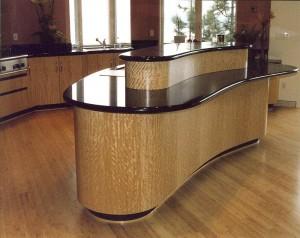 Custom wood contemporary Kitchen - custom woodwork by Design in Wood, Petaluma, CA. Andrew Jacobson - (707) 765-9885