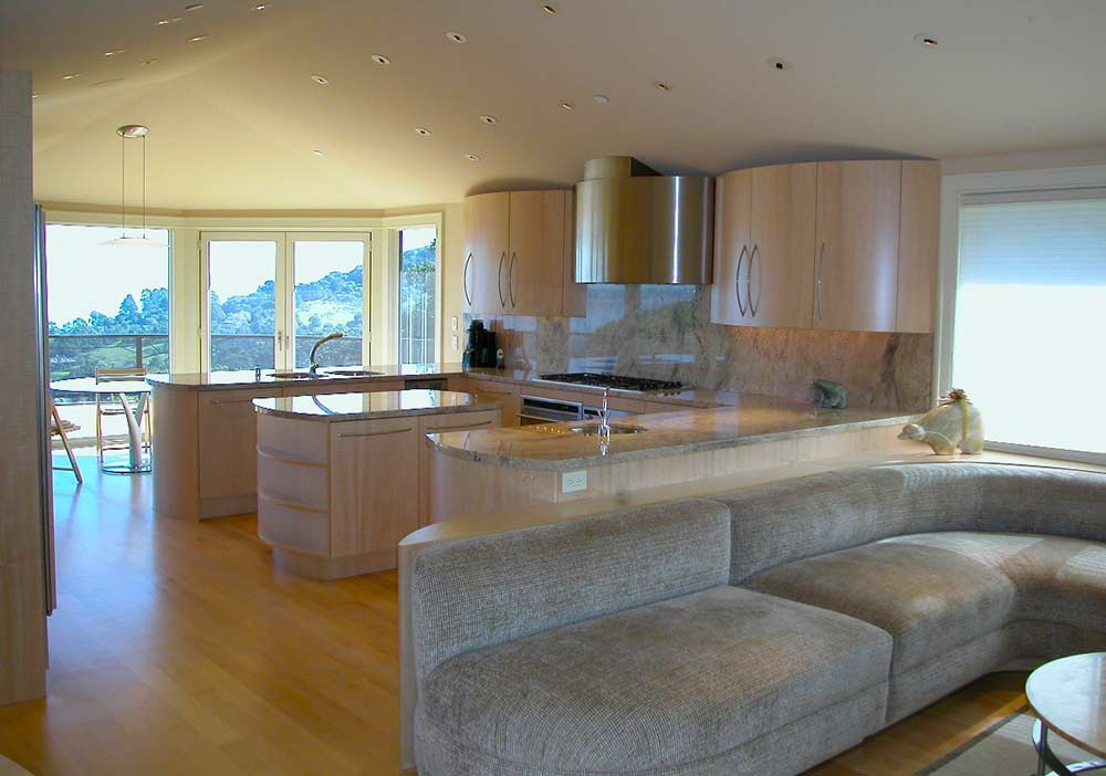 Custom wood kitchen and cabinetry in Tiburon