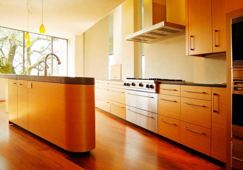Custom wood kitchen by Design in Wood, Andrew Jacobson, Petaluma, Ca