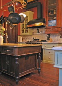 traditional victorian custom kitchen in Pacific Heights CA