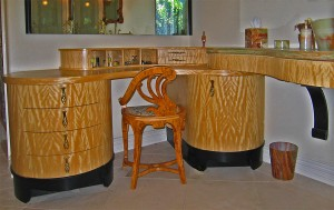 Art Nouveau Custom Bath Vanity by Design in Wood, Petaluma, CA