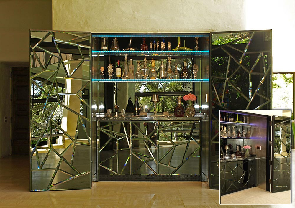 MIrrored Bar Combo by Design in Wood, Andrew Jacobson, Petaluma, Ca