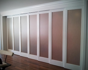 Wall of Doors - custom woodwork by Design in Wood, Petaluma, CA. Andrew Jacobson - (707) 765-9885