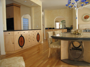 Belvedere Buffet and Dining Table by Design in Wood, Andrew Jacobson, Petaluma, Ca