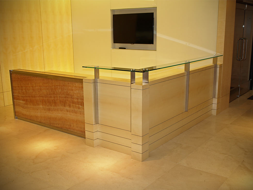 Danville Corporate Office Reception Desk by Design in Wood, Andrew Jacobson, Petaluma, Ca