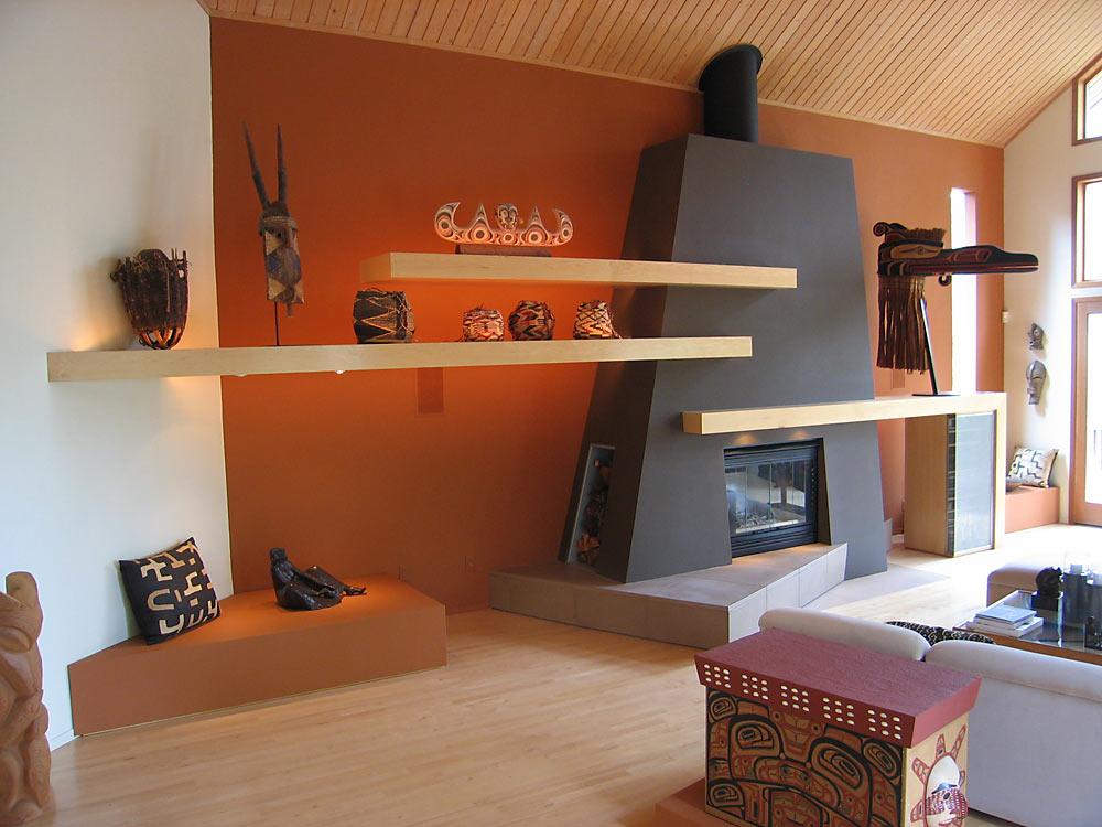 Floating Display Shelves - custom woodwork by Design in Wood, Petaluma, CA. Andrew Jacobson - (707) 765-9885