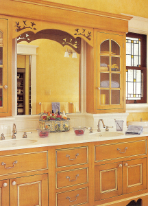Girls Bath - custom woodwork by Design in Wood, Petaluma, CA. Andrew Jacobson - (707) 765-9885