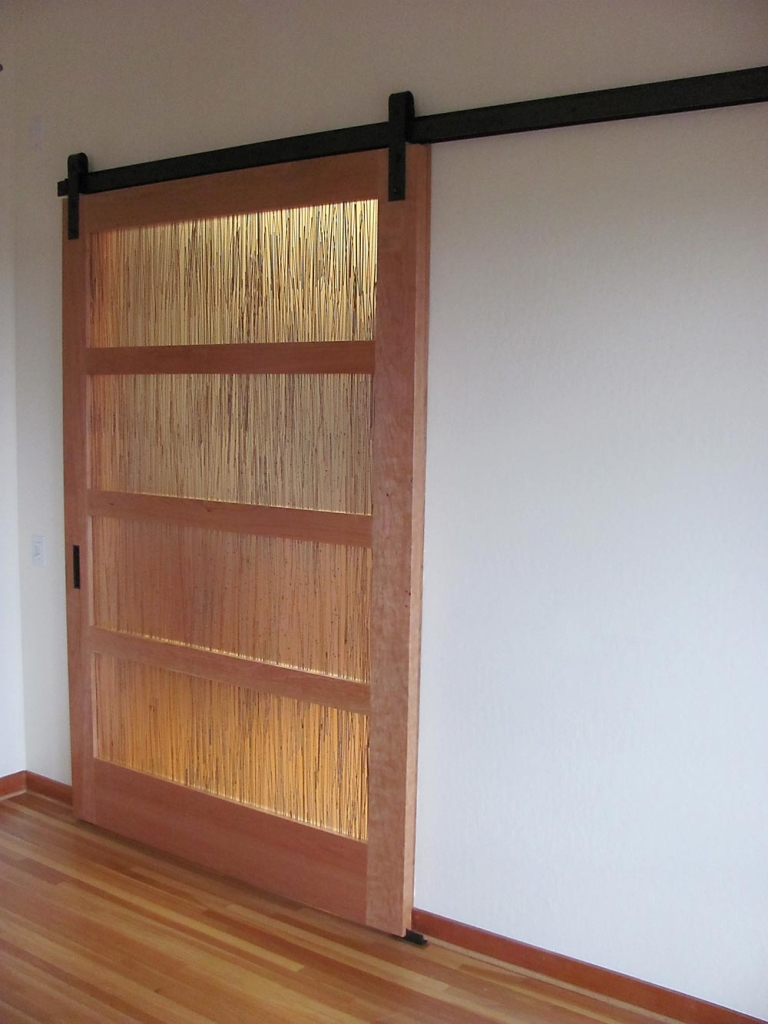 Sliding Barn Door - custom woodwork by Design in Wood, Petaluma, CA. Andrew Jacobson - (707) 765-9885