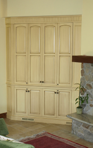 Kentfield TV Cabinet - custom woodwork by Design in Wood, Petaluma, CA. Andrew Jacobson - (707) 765-9885