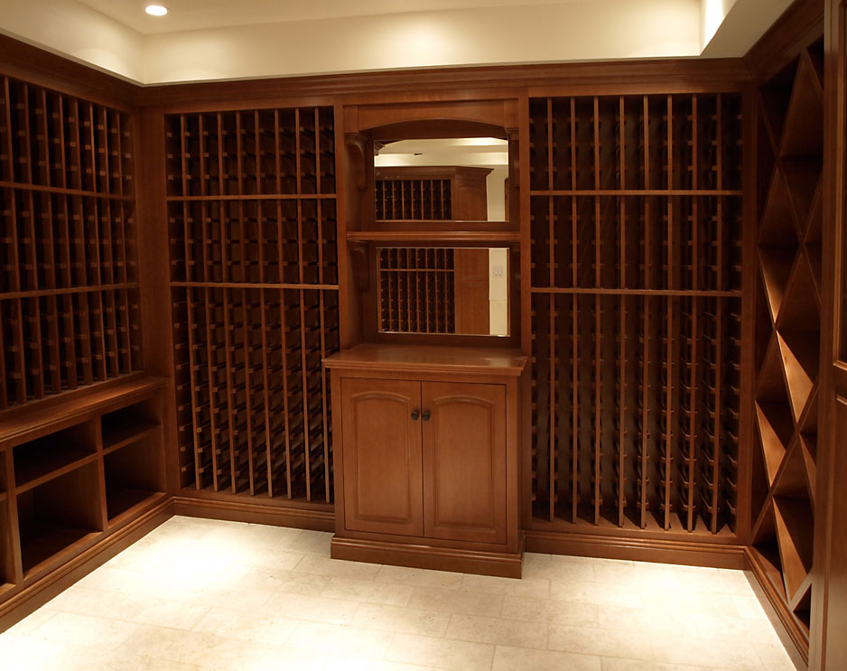 Kentfield Wine Cellar - custom woodwork by Design in Wood, Petaluma, CA. Andrew Jacobson - (707) 765-9885