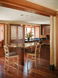 Kitchen Table - custom woodwork by Design in Wood, Petaluma, CA. Andrew Jacobson - (707) 765-9885