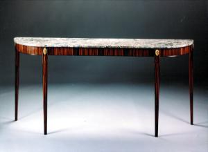 Manhattan Entry Table - custom woodwork by Design in Wood, Petaluma, CA. Andrew Jacobson - (707) 765-9885