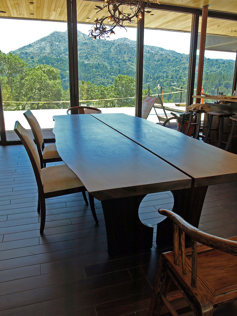 Kentfield Dining Set - custom woodwork by Design in Wood, Petaluma, CA. Andrew Jacobson - (707) 765-9885