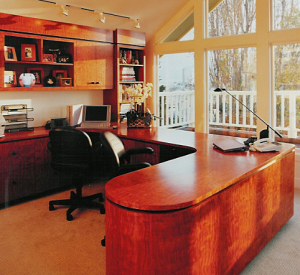 Pacific Heights Office - custom woodwork by Design in Wood, Petaluma, CA. Andrew Jacobson - (707) 765-9885