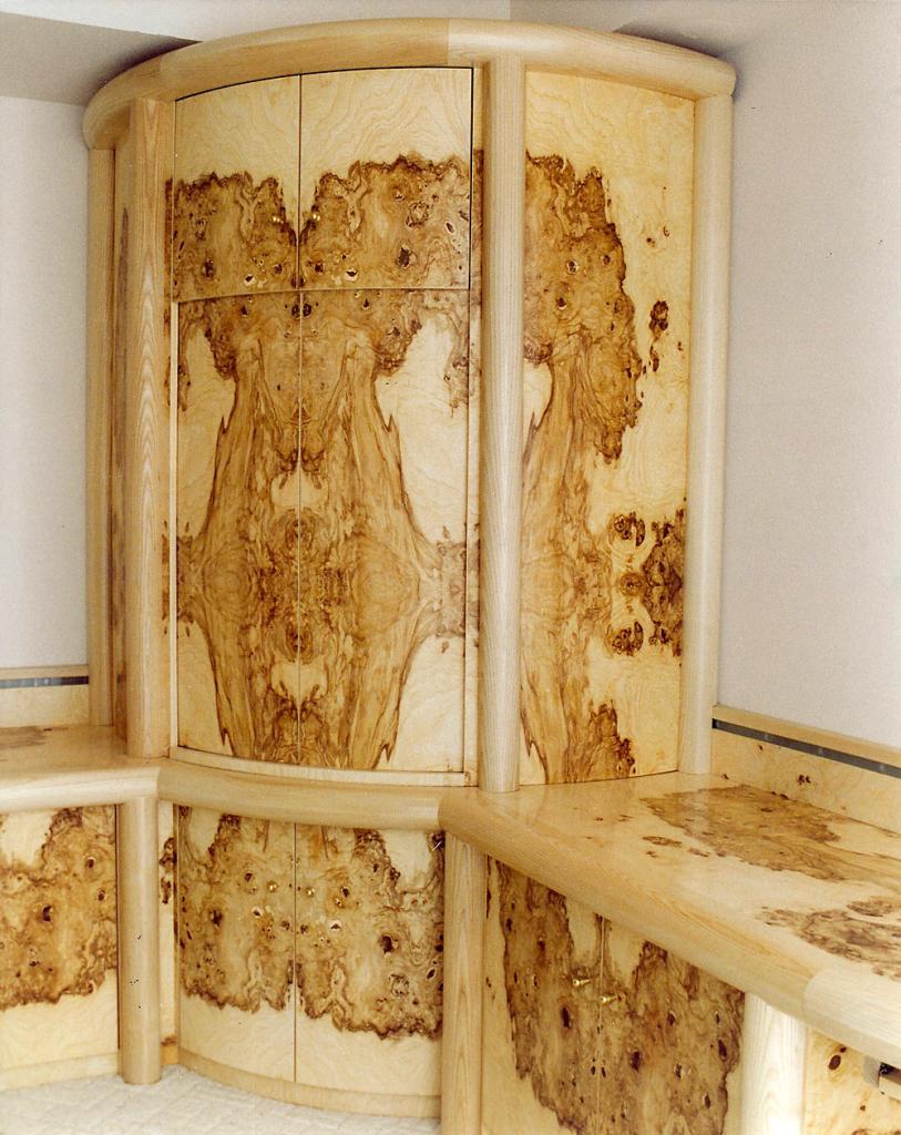 Palm Desert Motorized Cabinet - custom woodwork by Design in Wood, Petaluma, CA. Andrew Jacobson - (707) 765-9885