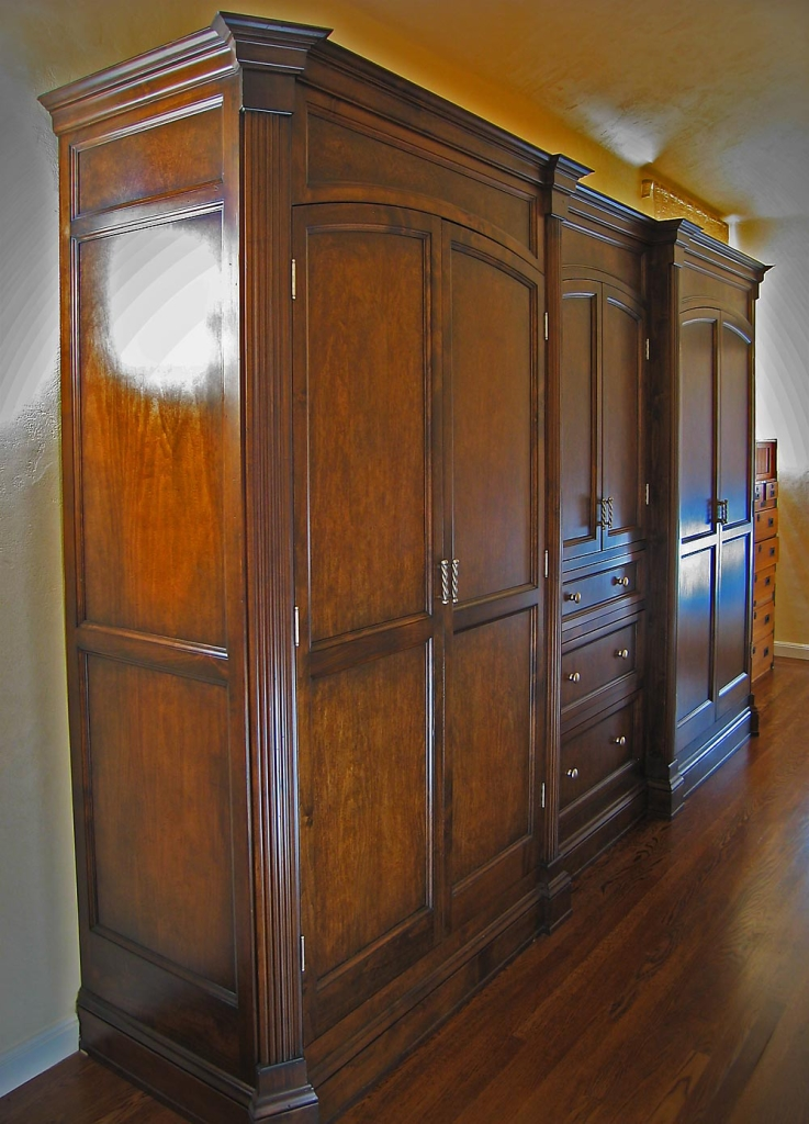 Palo Alto Closet Armoire - custom woodwork by Design in Wood, Petaluma, CA. Andrew Jacobson - (707) 765-9885