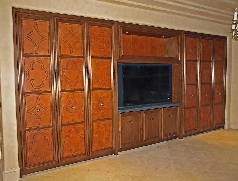Palo Alto Media Wall - custom woodwork by Design in Wood, Petaluma, CA. Andrew Jacobson - (707) 765-9885