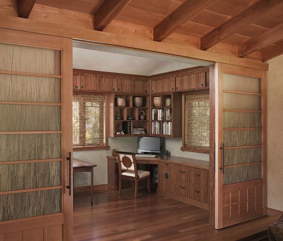 Petaluma Office - custom woodwork by Design in Wood, Petaluma, CA. Andrew Jacobson - (707) 765-9885