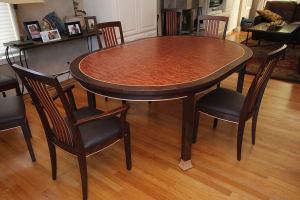 Rockridge Dining Set - custom woodwork by Design in Wood, Petaluma, CA. Andrew Jacobson - (707) 765-9885