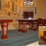 St Vincent's Church - custom woodwork by Design in Wood, Petaluma, CA. Andrew Jacobson - (707) 765-9885