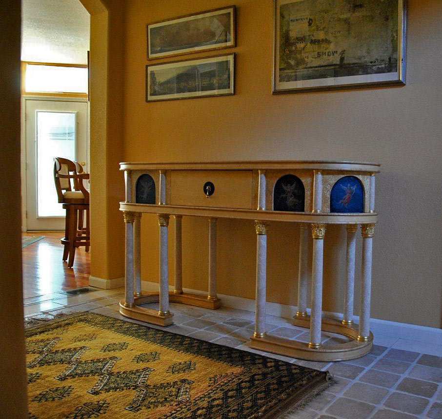 Stadium Table - custom woodwork by Design in Wood, Petaluma, CA. Andrew Jacobson - (707) 765-9885