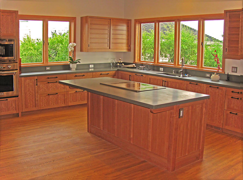 Stinson Beach Kitchen - custom woodwork by Design in Wood, Petaluma, CA. Andrew Jacobson - (707) 765-9885