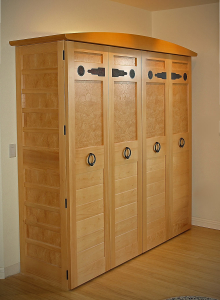Tansu Office - custom woodwork by Design in Wood, Petaluma, CA. Andrew Jacobson - (707) 765-9885