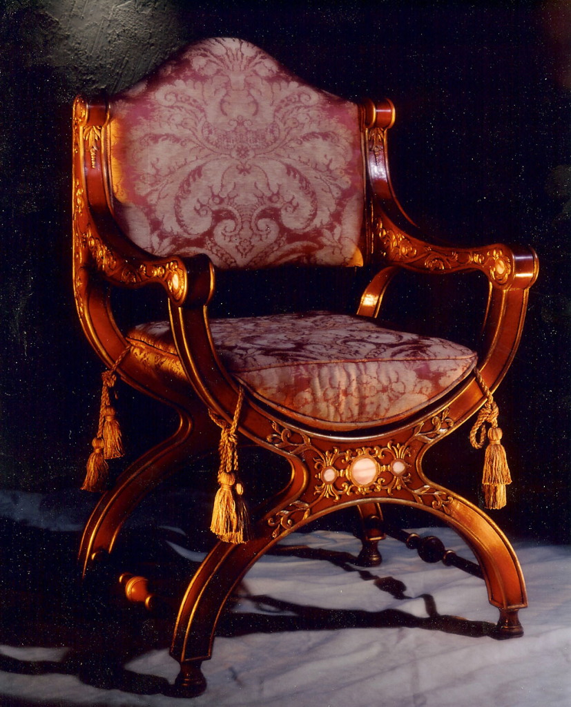 Throne Chair - custom woodwork by Design in Wood, Petaluma, CA. Andrew Jacobson - (707) 765-9885