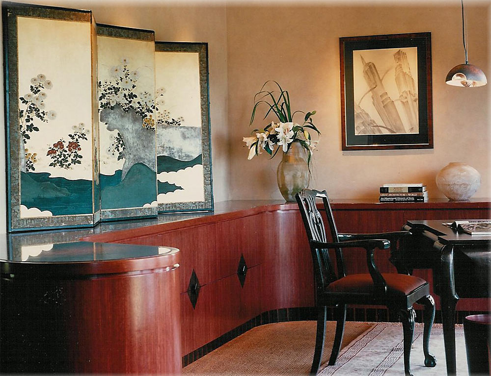 Tiburon Home Office - custom woodwork by Design in Wood, Petaluma, CA. Andrew Jacobson - (707) 765-9885