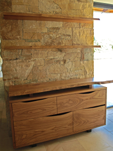 Woodside Floating Credenza by Design in Wood, Andrew Jacobson, Petaluma, Ca