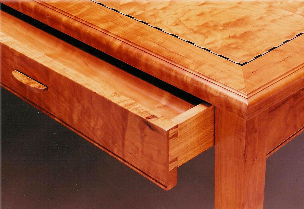 Writing Desk, Detail by Design in Wood, Andrew Jacobson, Petaluma, Ca