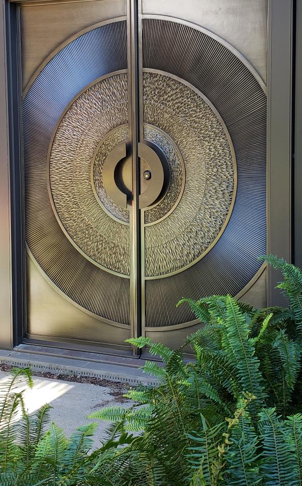 Custom made bronze doors by Design in Wood, Petaluma, Ca