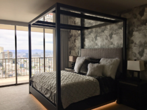 Custom Built Wooden Bed by Design in Wood, Andrew Jacobson, Petaluma, Ca