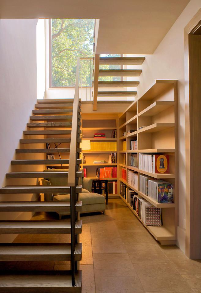Custom contemporary bookcase by Design in Wood, Sonoma County, California