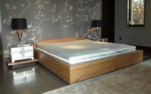 Custom Built Wood Bed - by Design in Wood, Petaluma CA