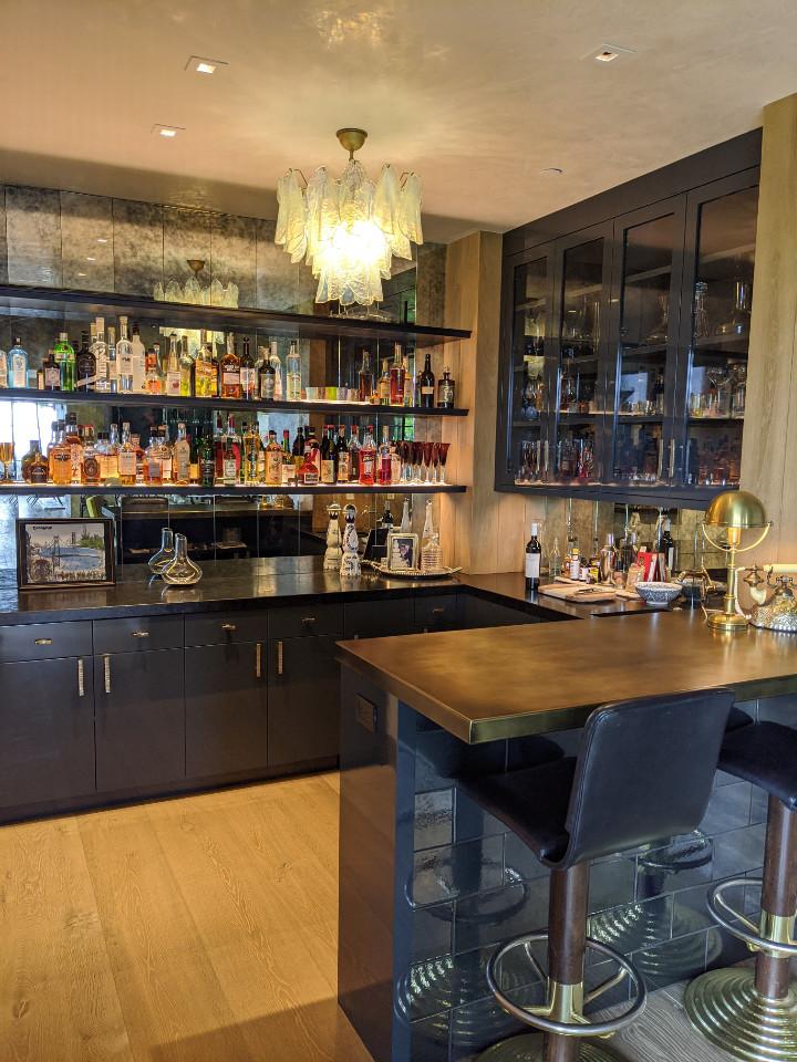 Custom Built Lacquered Bar - by Design in Wood, Petaluma CA