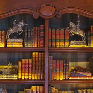 custom private library closeup - by Design in Wood, Petaluma, CA