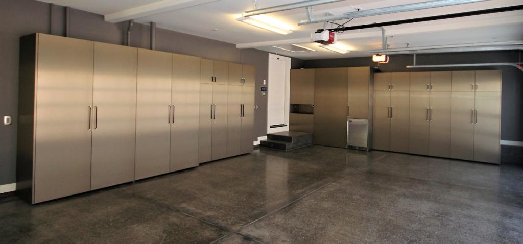 Custom Metallic Garage Cabinets by Design in Wood, Sonoma County, California