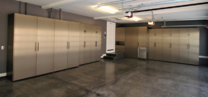 Custom Metallic Garage Cabinets by Design in Wood, Sonoma County, California