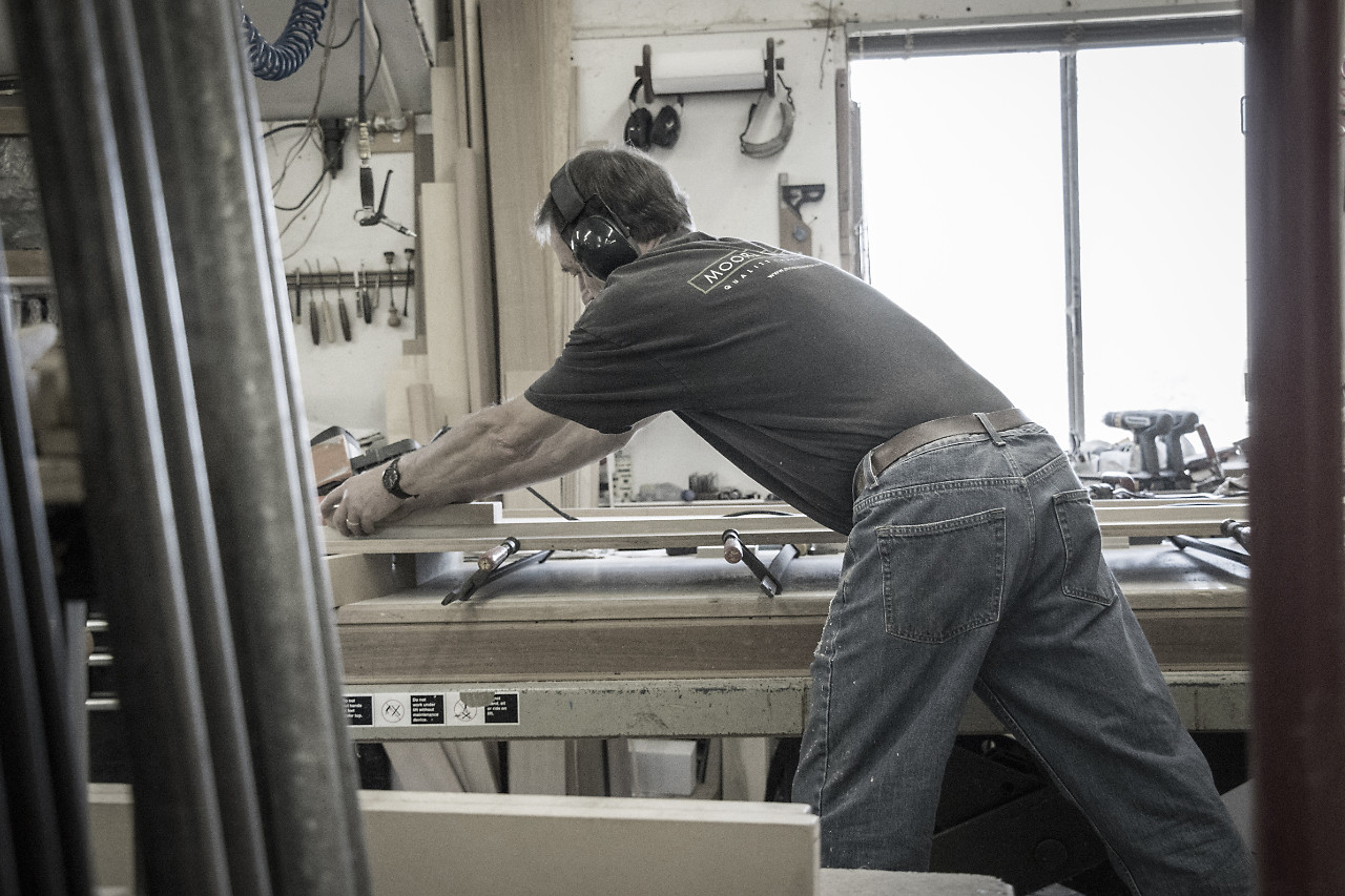 Photo of Wood Master at Work - Design in Wood, Andrew Jacobson, Petaluma, Ca