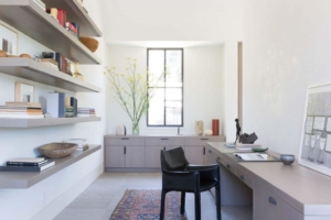 Photo of contemporary home office by Design in Wood, Petaluma, CA