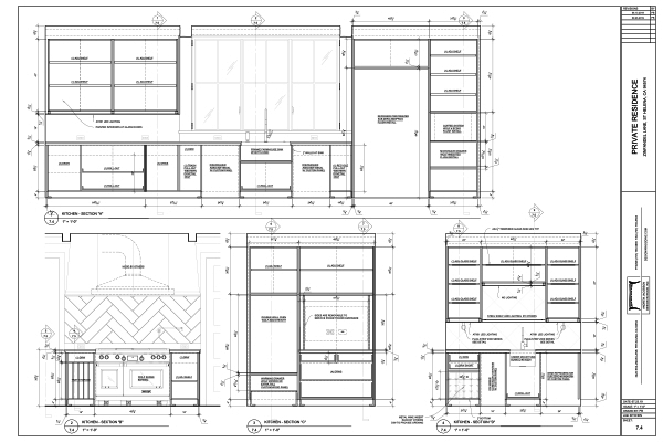 Shop Drawings for private residential kitchen